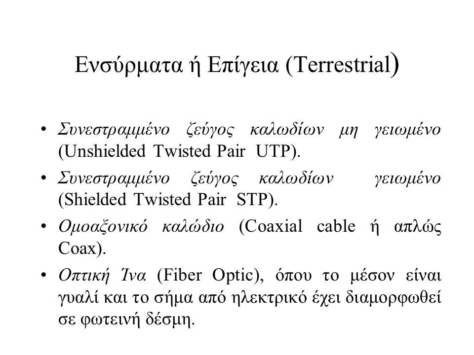Ενσύρματα ή Επίγεια (Terrestrial)