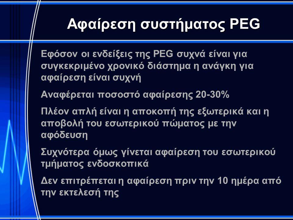 Αφαίρεση συστήματος PEG