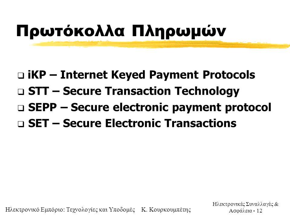 Πρωτόκολλα Πληρωμών iKP – Internet Keyed Payment Protocols