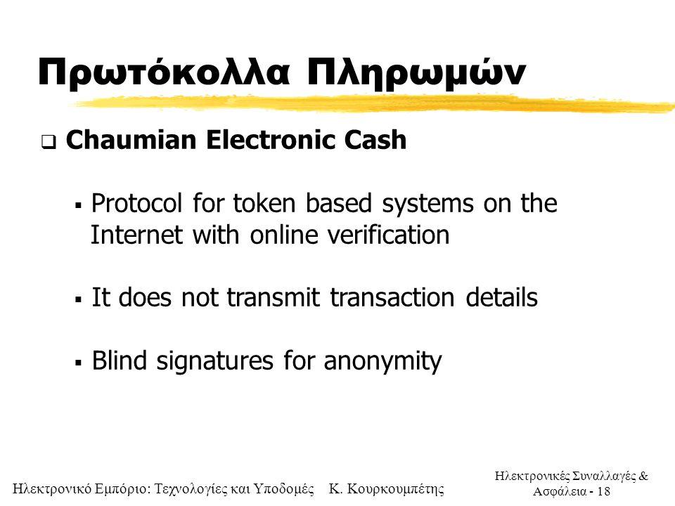 Πρωτόκολλα Πληρωμών Chaumian Electronic Cash