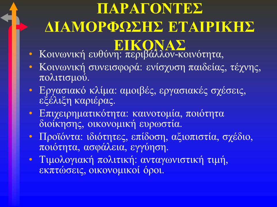 ΠΑΡΑΓΟΝΤΕΣ ΔΙΑΜΟΡΦΩΣΗΣ ΕΤΑΙΡΙΚΗΣ ΕΙΚΟΝΑΣ