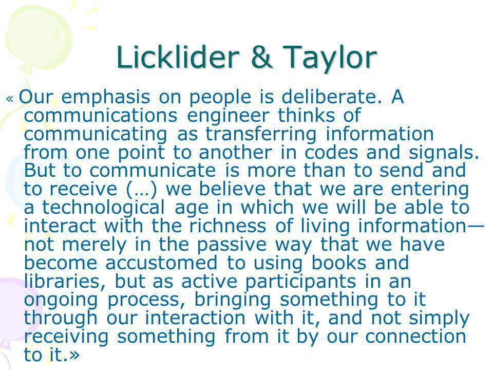 Licklider & Taylor