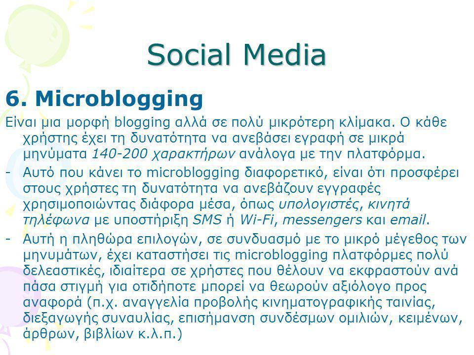 Social Media 6. Microblogging