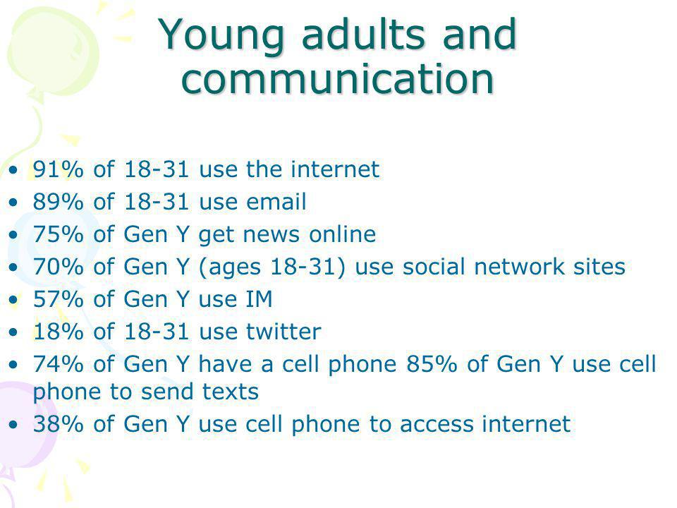 Young adults and communication