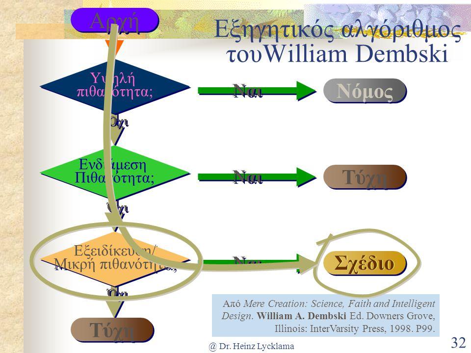 Εξηγητικός αλγόριθμος τουWilliam Dembski