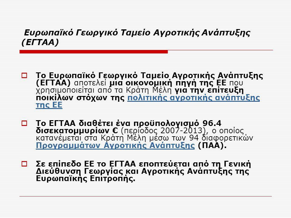 Ευρωπαϊκό Γεωργικό Ταμείο Αγροτικής Ανάπτυξης (ΕΓΤΑΑ)