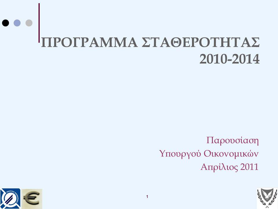 ΠΡΟΓΡΑΜΜΑ ΣΤΑΘΕΡΟΤΗΤΑΣ 2010-2014