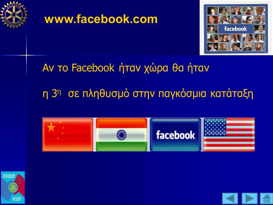 www.facebook.com Αν το Facebook ήταν χώρα θα ήταν