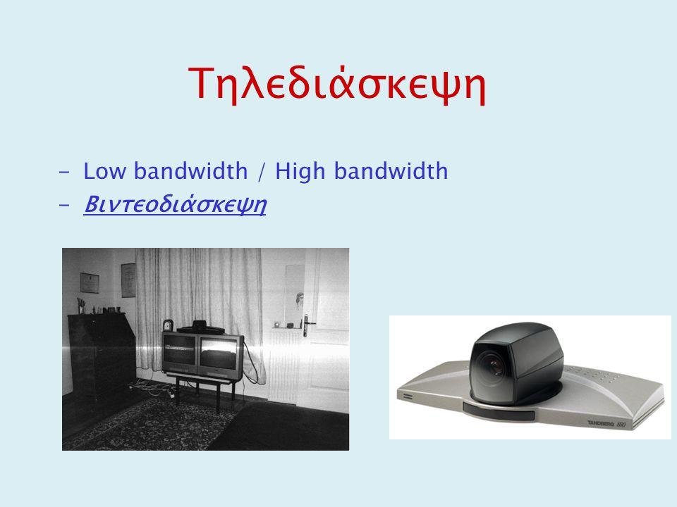 Τηλεδιάσκεψη Low bandwidth / High bandwidth Βιντεοδιάσκεψη