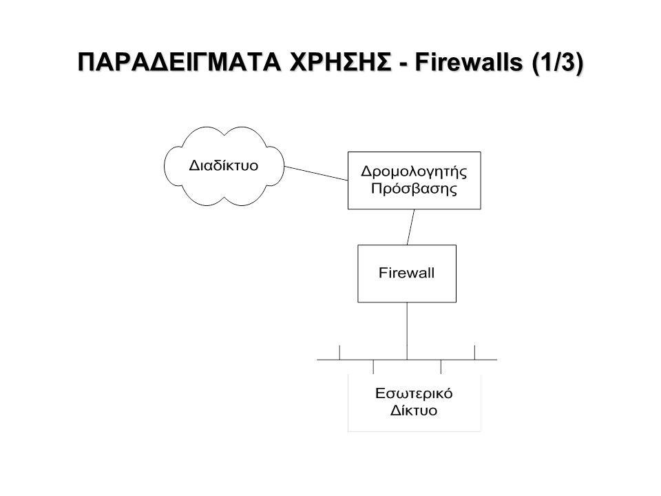ΠΑΡΑΔΕΙΓΜΑΤΑ ΧΡΗΣΗΣ - Firewalls (1/3)