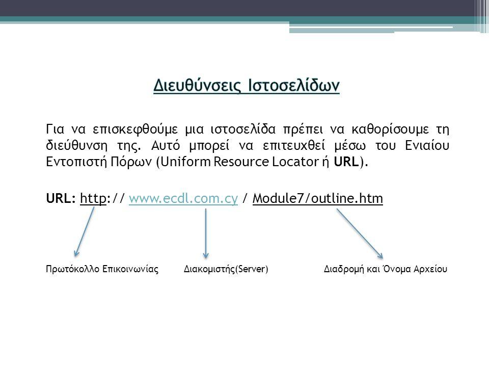Διευθύνσεις Ιστοσελίδων