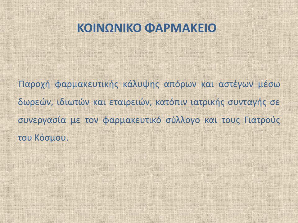 ΚΟΙΝΩΝΙΚΟ ΦΑΡΜΑΚΕΙΟ