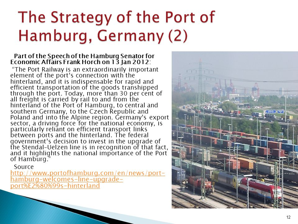 The Strategy of the Port of Hamburg, Germany (2)