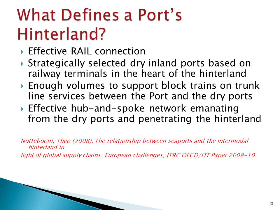 What Defines a Port's Hinterland