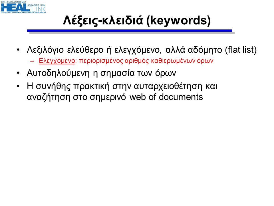 Λέξεις-κλειδιά (keywords)