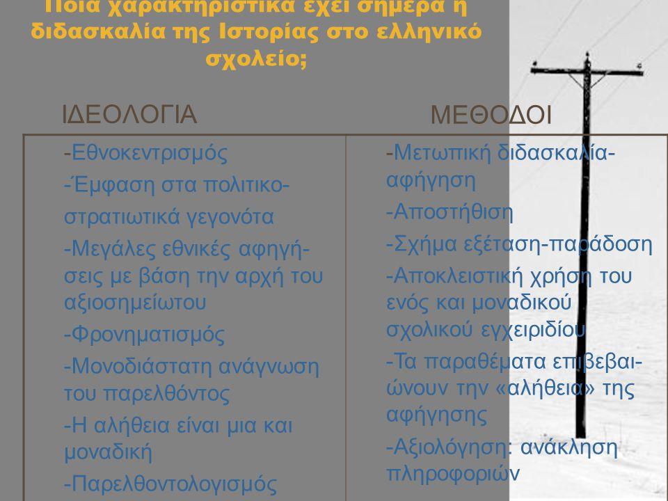 ΙΔΕΟΛΟΓΙΑ ΜΕΘΟΔΟΙ (Παληκίδης Α. 2011)