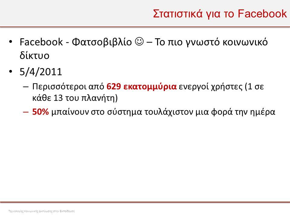 Στατιστικά για το Facebook