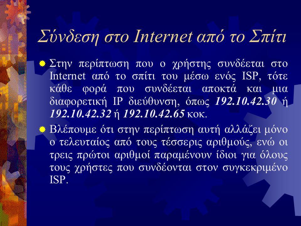 Σύνδεση στο Internet από το Σπίτι