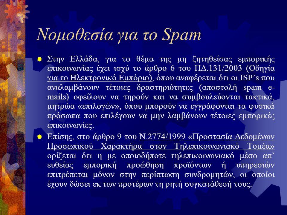 Νομοθεσία για το Spam