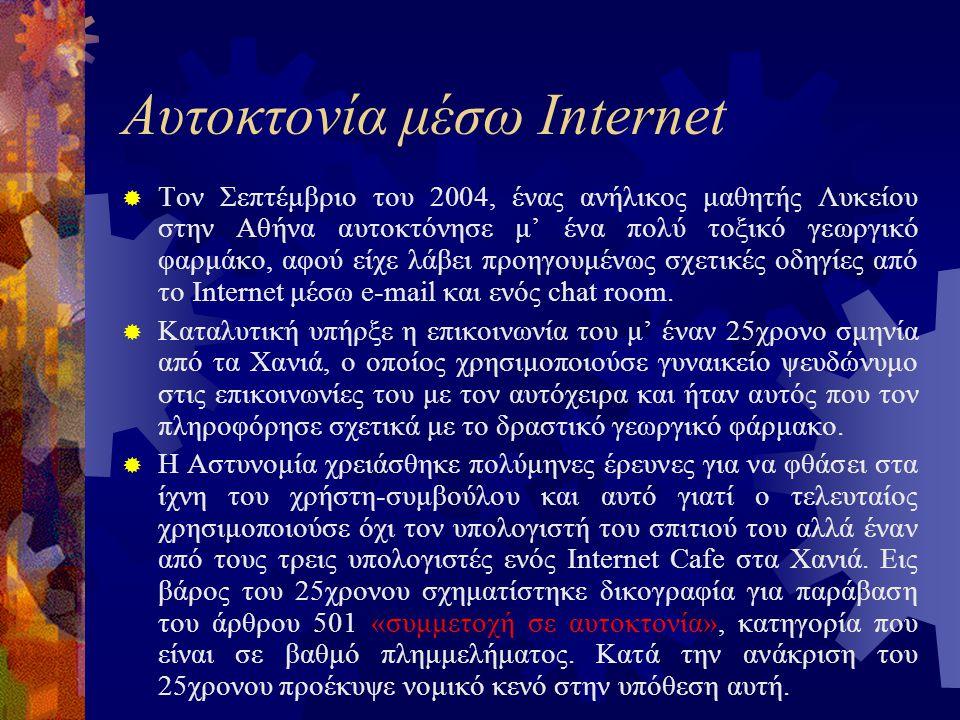 Αυτοκτονία μέσω Internet