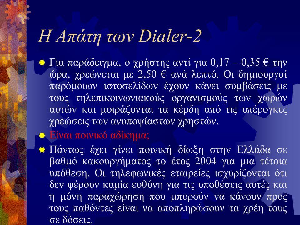 Η Απάτη των Dialer-2