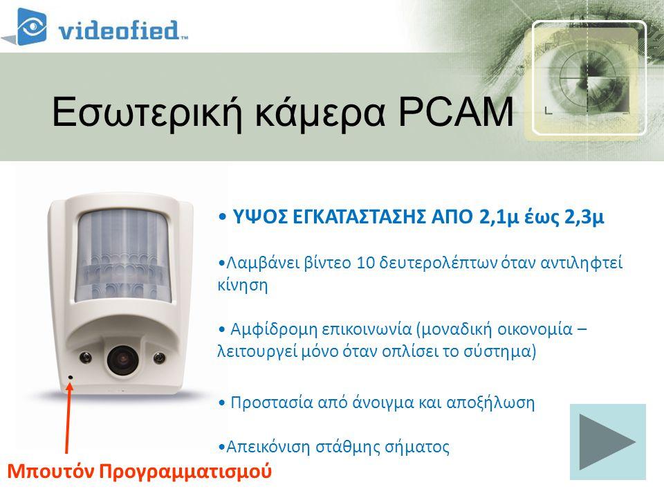 Εσωτερική κάμερα PCAM ΥΨΟΣ ΕΓΚΑΤΑΣΤΑΣΗΣ ΑΠΟ 2,1μ έως 2,3μ