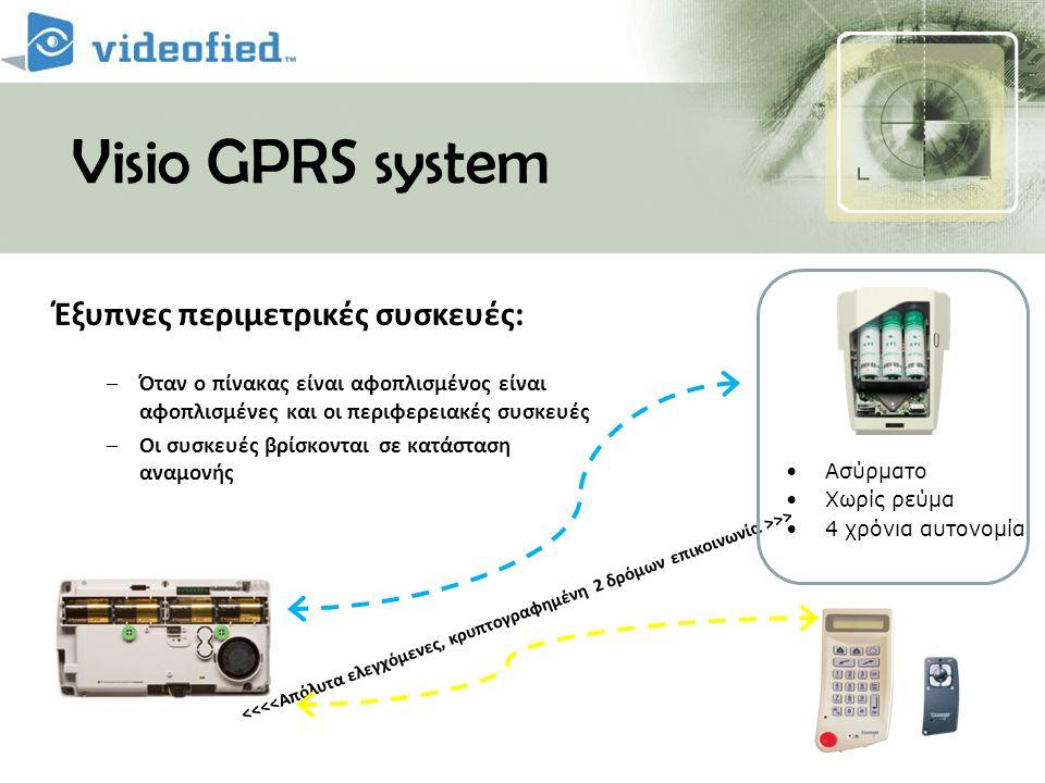 Visio GPRS system Έξυπνες περιμετρικές συσκευές: