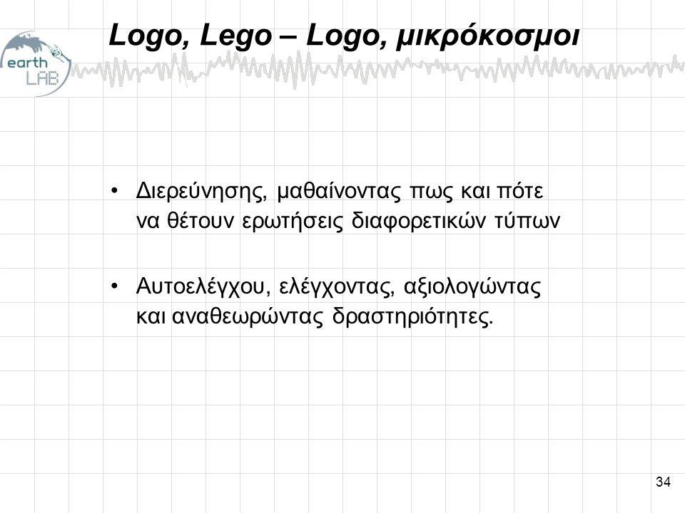 Logo, Lego – Logo, μικρόκοσμοι