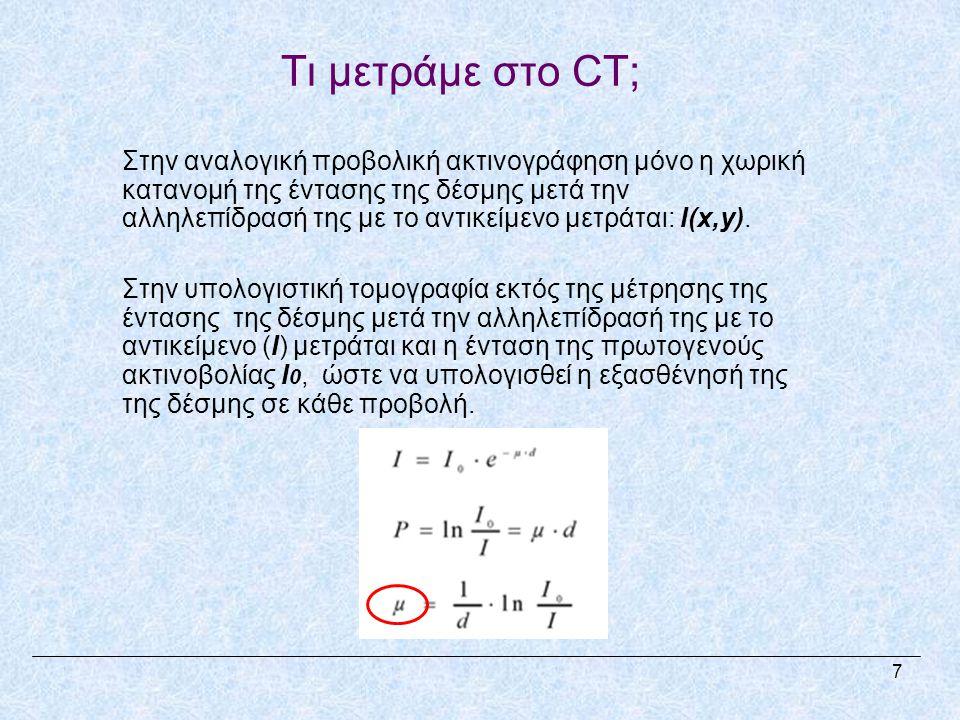 Τι μετράμε στο CT;