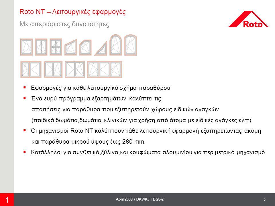 1 Roto NT – Λειτουργικές εφαρμογές Με απεριόριστες δυνατότητες