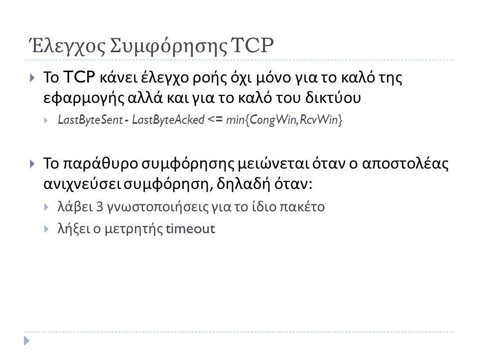 Έλεγχος Συμφόρησης TCP