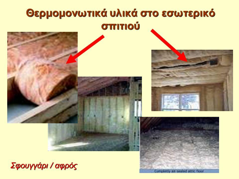Θερμομονωτικά υλικά στο εσωτερικό σπιτιού