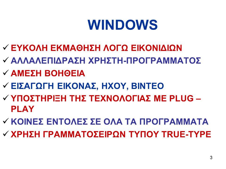 WINDOWS ΕΥΚΟΛΗ ΕΚΜΑΘΗΣΗ ΛΟΓΩ ΕΙΚΟΝΙΔΙΩΝ