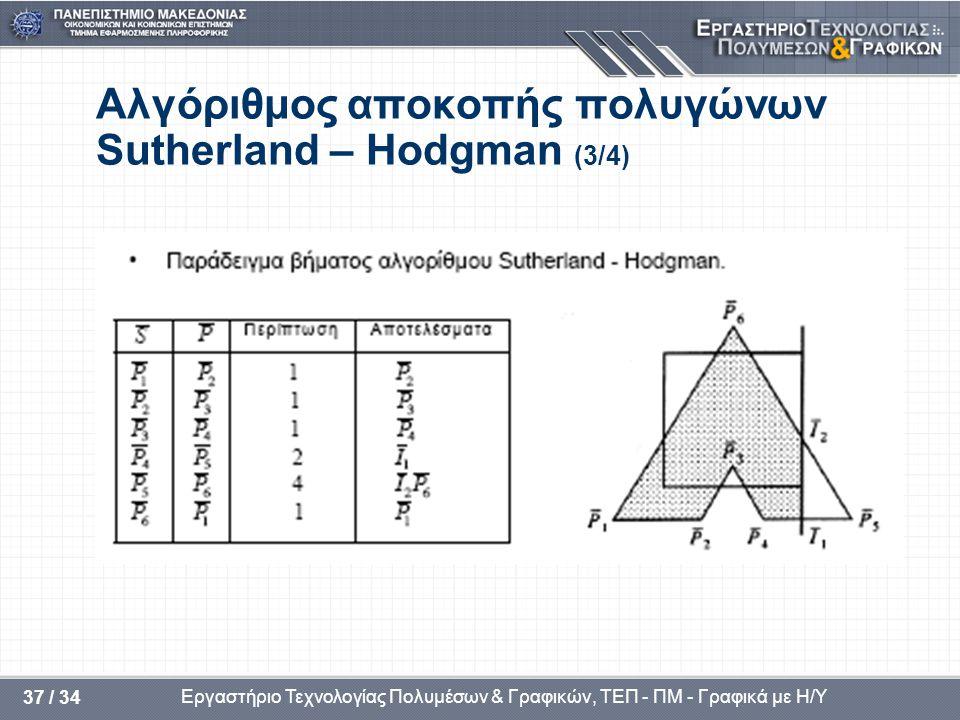 Αλγόριθμος αποκοπής πολυγώνων Sutherland – Hodgman (3/4)