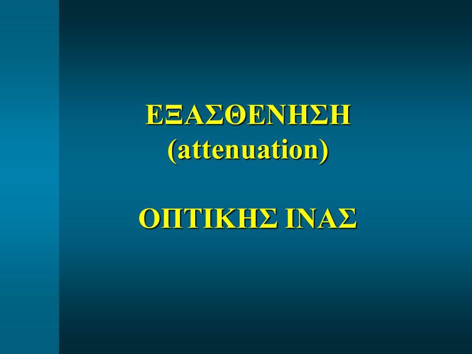 ΕΞΑΣΘΕΝΗΣΗ (attenuation) ΟΠΤΙΚΗΣ ΙΝΑΣ