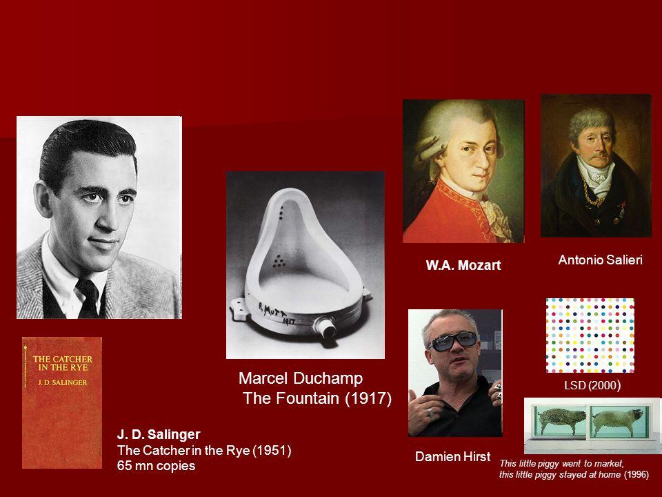 Marcel Duchamp The Fountain (1917) Antonio Salieri W.A. Mozart