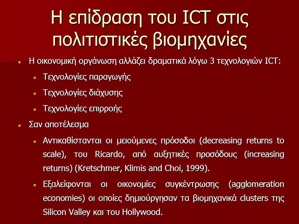 Η επίδραση του ICT στις πολιτιστικές βιομηχανίες