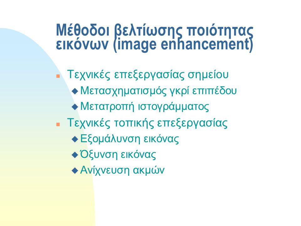 Μέθοδοι βελτίωσης ποιότητας εικόνων (image enhancement)