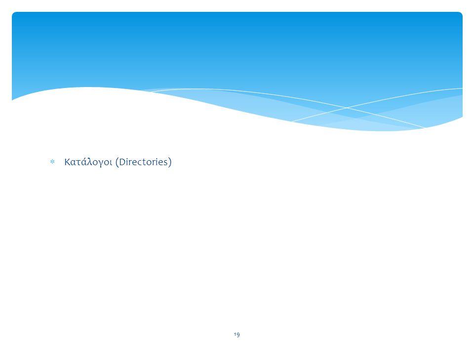 Κατάλογοι (Directories)
