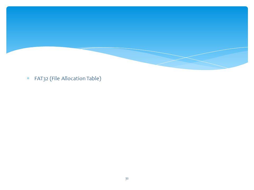 FAT32 (File Allocation Table)