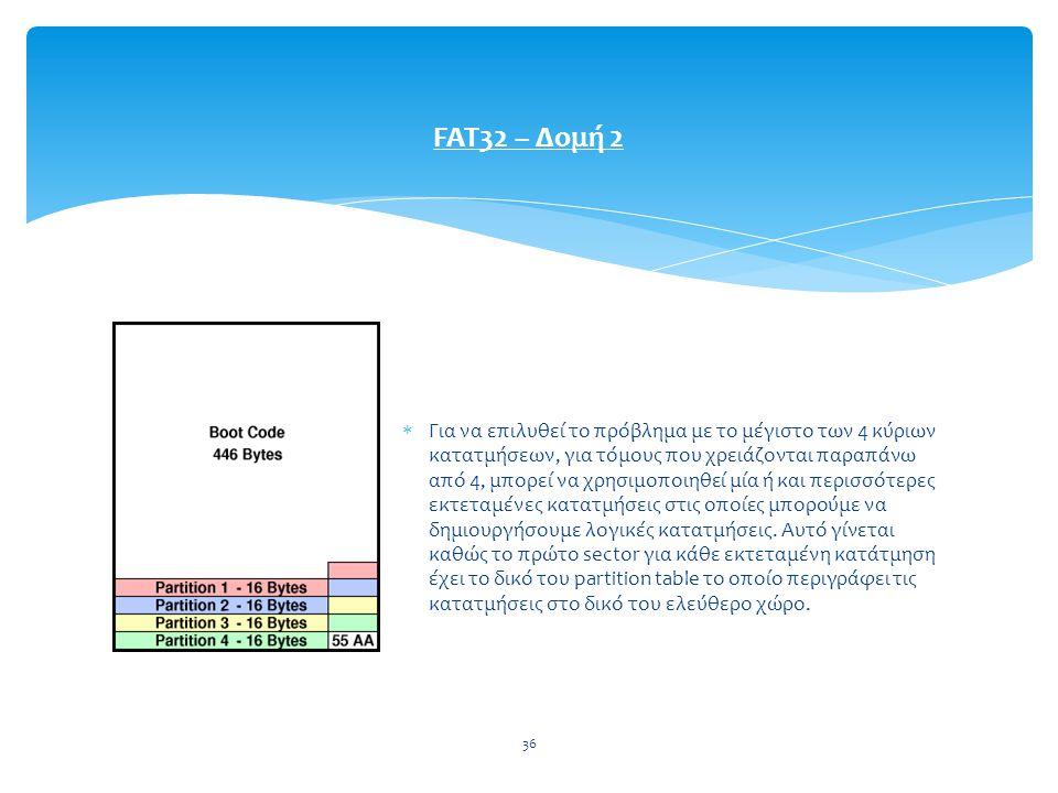 FAT32 – Δομή 2