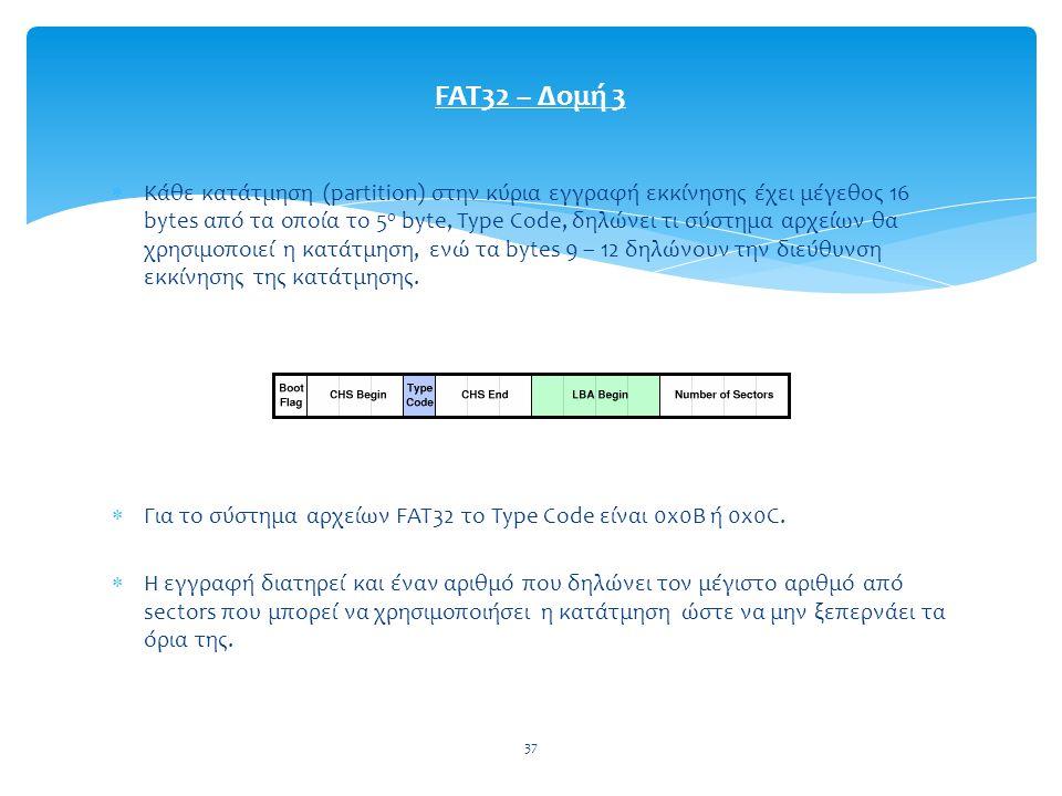 FAT32 – Δομή 3