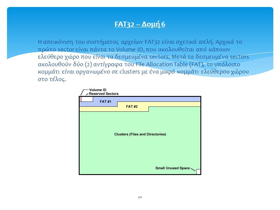 FAT32 – Δομή 6