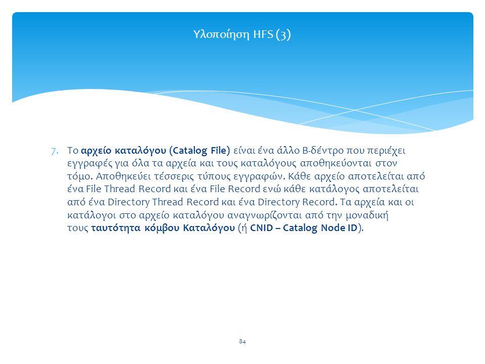 Υλοποίηση HFS (3)
