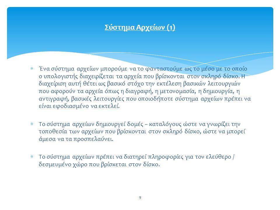 Σύστημα Αρχείων (1)
