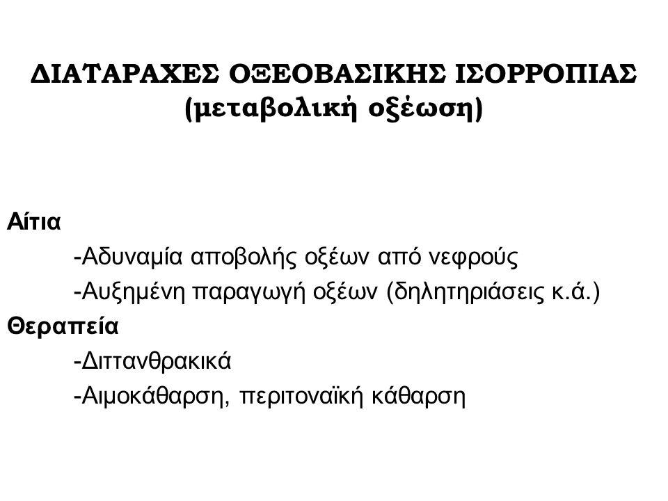 ΔΙΑΤΑΡΑΧΕΣ ΟΞΕΟΒΑΣΙΚΗΣ ΙΣΟΡΡΟΠΙΑΣ