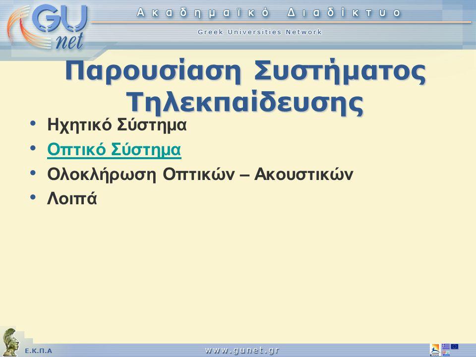 Παρουσίαση Συστήματος Τηλεκπαίδευσης