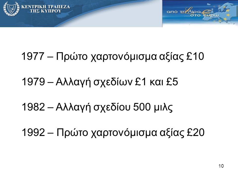 1992 – Πρώτο χαρτονόμισμα αξίας £20