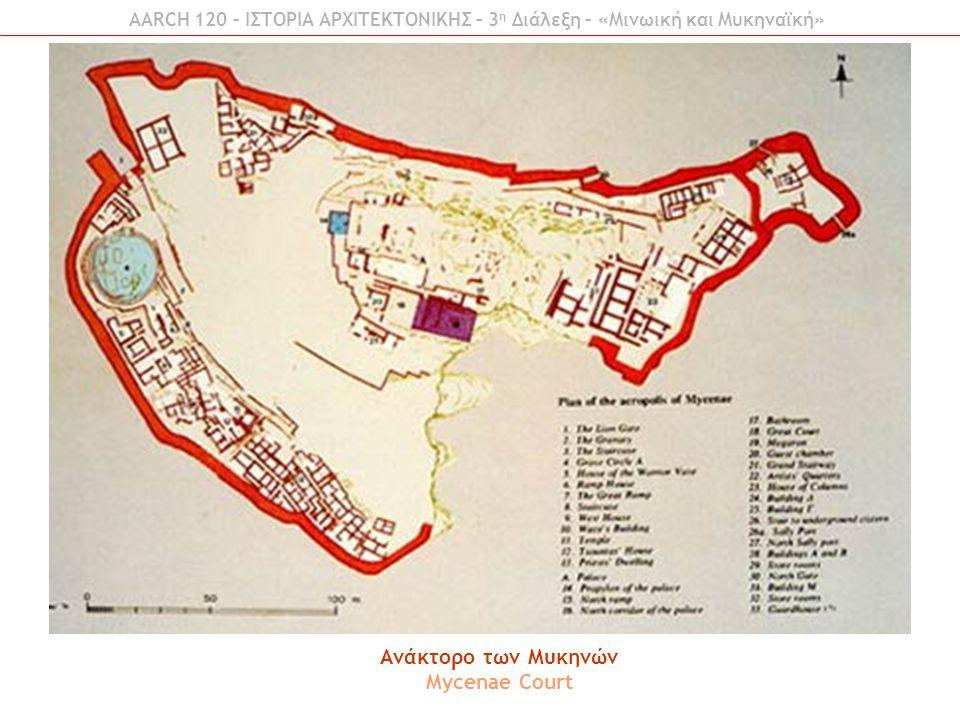 Ανάκτορο των Μυκηνών Mycenae Court