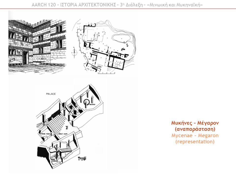Μυκήνες – Μέγαρον (αναπαράσταση) Mycenae – Megaron (representation)